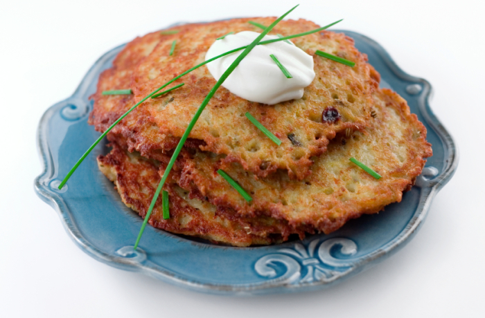 Potato Cake & Greek Salad Recipe